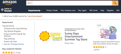 Amazon Startsida Front